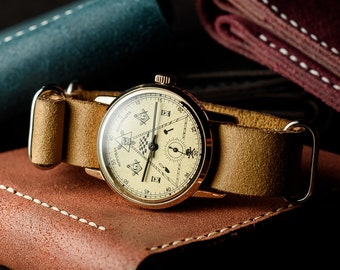 4e871ee2add Ultra rare original vintage Soviet watch Zim