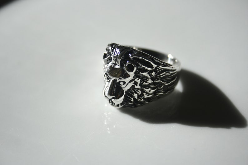 Lion Ring for Man 925 Sterling Silver Ring For Men