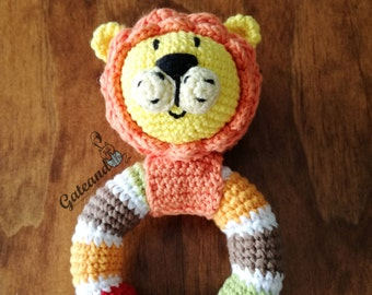 Leoncio baby rattle amigurumi / rattle crochet
