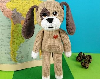 Amigurumi dog - Doky Dog - dog stuffed - handmade doll - crochet stuffed