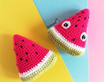 Watermelon amigurumi kawaii - Toy - Crochet - 100% handmade