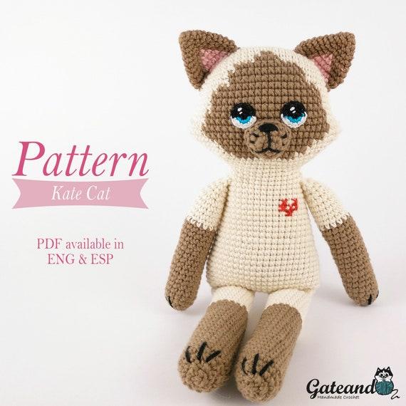 Encantador Patrón De Crochet Gato Ornamento - Ideas de Patrones de ...
