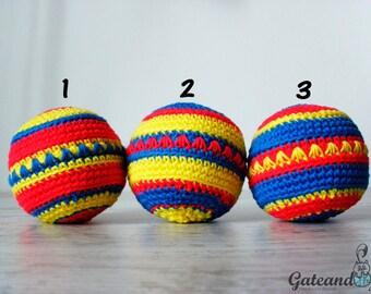 Crochet ball. Toy.