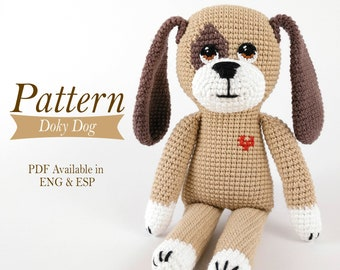 Amigurumi dog pattern - Doky Dog - PDF tutorial - Crochet - stuffed animal