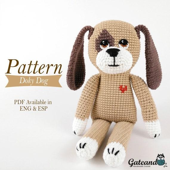 Patrón amigurumi perro Doky Dog PDF tutorial Crochet | Etsy
