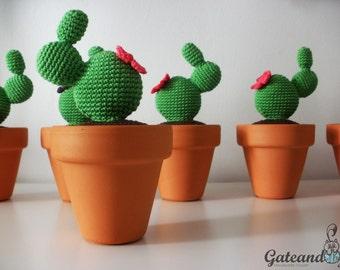 Cactus Amigurumi. Crochet plant. Decoration. Home.