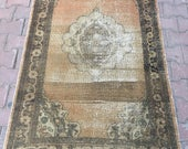 FREE SHiPPİNG 3 39 3 x5 39 7 feet,New Trend Oushak Rug Cappadocia Rug Vintage Rug Distressed Oushak Rug Turkish Low Pile Rug Home and Office Rug,