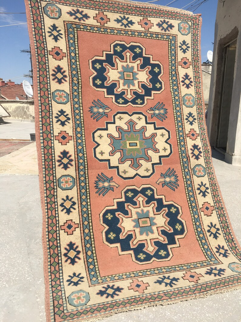 Home of Vintage Oushak Rug4.1x7.1 ft/Rug/Ethnic Turkish image 0