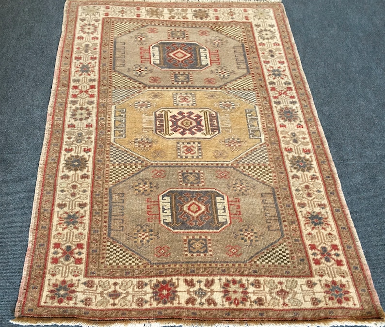 Great Door Mat  2.10x4.3feet Turkish RugVintage image 0