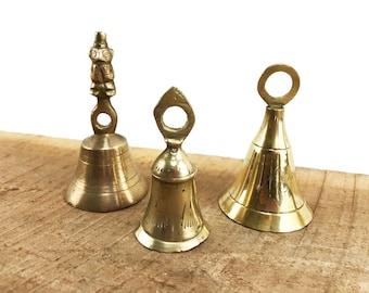 Three Vintage Brass Bells//Brass Sarna Bells