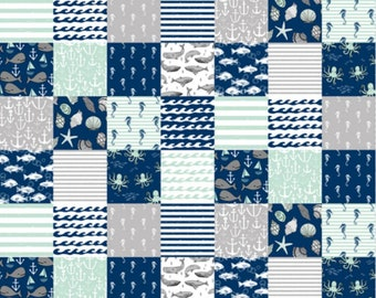 Nautical -Minky Baby Blanket-