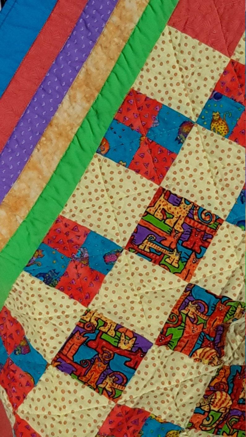Bright Patchwork Baby Quilt