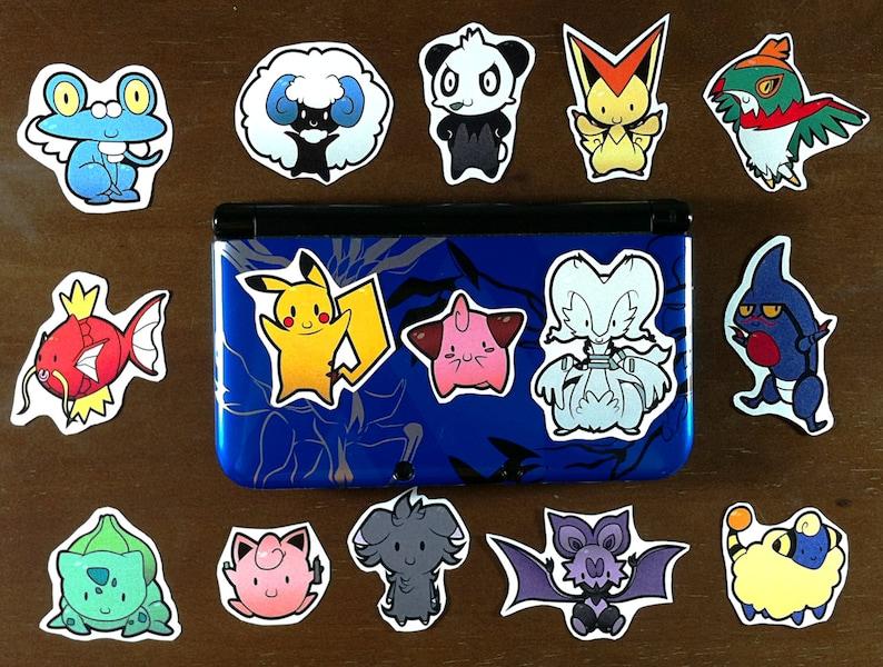 Pokemon Kleurplaten Glaceon.Pokederps Pokemon Inspired Derpy Stickers Group Of 6 Etsy