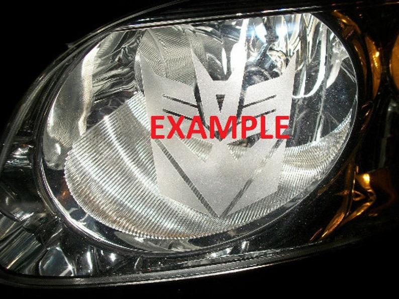 Etched PN Head Light Tail Light Sticker JDM Pair Captian America