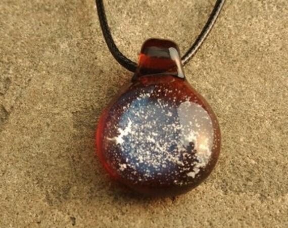 Memorial Pendant   Cremation Jewelry   Pet Memorial Necklace   Amber Version  