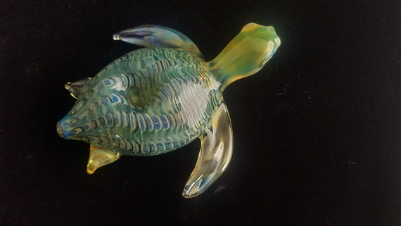 Color Changing Glass Sea Turtle Pipe | Unique Glass Art | Tobacco Pipe | Free Priority Shipping |