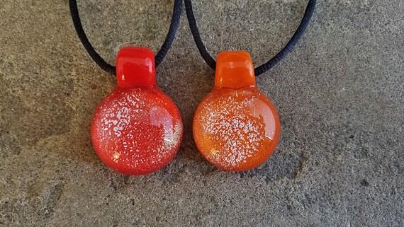 Memorial Pendant  | Cremation Jewelry | Pet Memorial Necklace | Orange Version |