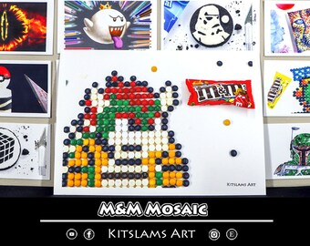 Pixel Art Mario Art Print Mario Pixel Art Pixel Art Mario Etsy