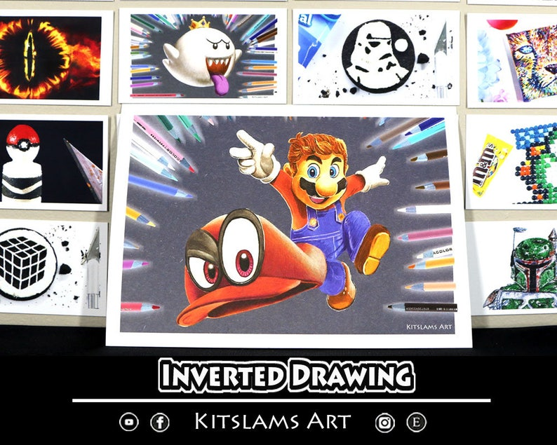Mario Odyssey Drawing Mario Art Print Mario Odyssey Art Etsy