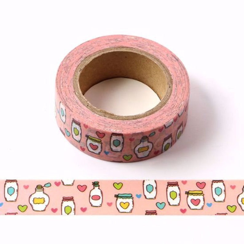 Pink Mason Jar Washi Tape