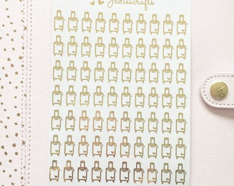 Foil Suitcase Stickers | Planner Stickers