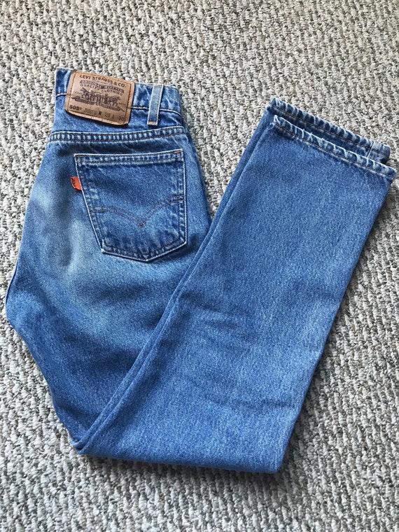 Levi's Vintage 505 Orange Tab Jeans 28x30
