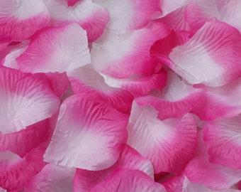 Hot pink rose petals etsy 500pcs hot pink petals hot pink wedding petals atificial silk rose flowers petals silk petals decoration petals silk rose petals pink petals mightylinksfo