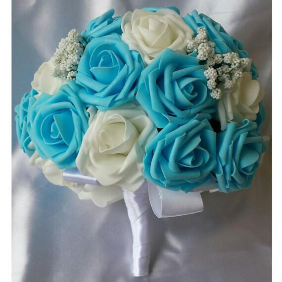 Light Blue Bridal Bouquet Wedding bouquet Bride Bouquet Blue | Etsy