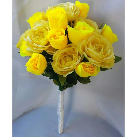 Yellow bouquets yellow bridal bouquet yellow bridesmaid etsy image 0 mightylinksfo