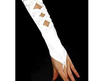 Girls fingerless gloves Communion gloves Girls Satin gloves White Satin gloves Girls White fingerless gloves Confirmation gloves 8yrs & up