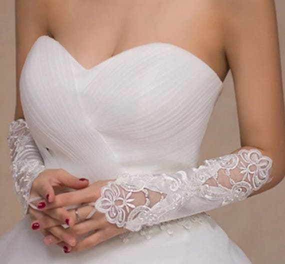 WHITE Satin Gloves Bridal Prom Wedding Christmas Dress Up