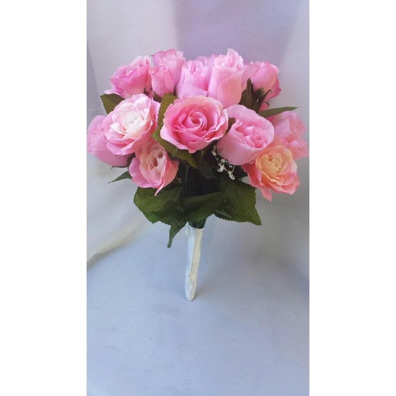 rose bouquet mariage rose bouquet rose bouquet de mariée | etsy