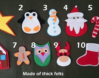 felt ornaments,felt christmas tree ornaments,kid's christmas tree,christmas decor,christmas activity,natural toys,felt tree