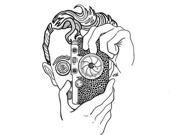 Flash Bulb Eyes Art Print