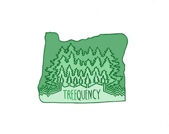 Treequency Vinyl Sticker