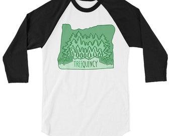 Treequency 3/4 sleeve raglan shirt
