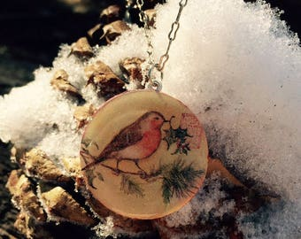 Sweet Little Christmas Robin Necklace
