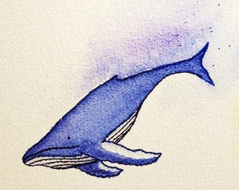 Whale of a Tale - Watercolor Print