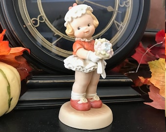 """Vintage Flower Girl Bridesmaid  - 1992 - """"I'm the girl for you"""" by Enesco"""
