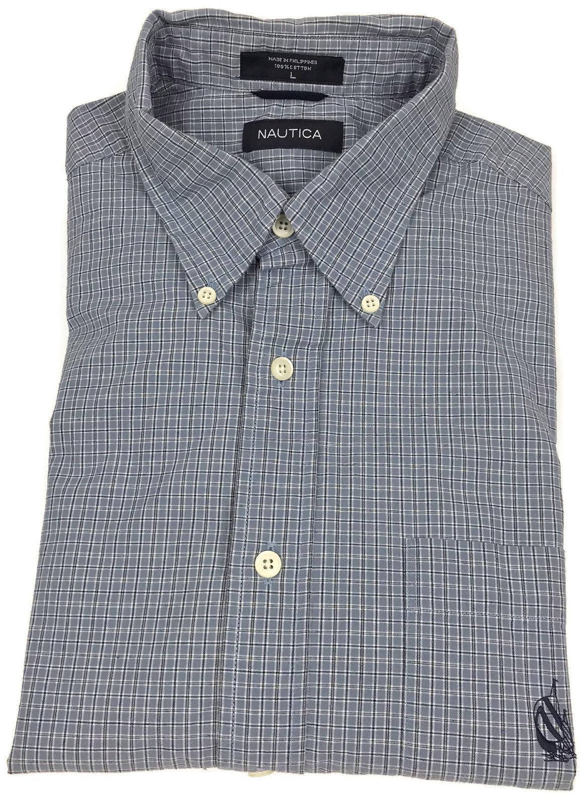 Mens Nautica Short Sleeve Botton Down Shirt Yellow Plaid Xl Superior Materials Men's Clothing