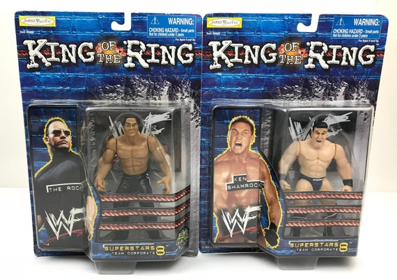 WWF//WWE Mattel Retro King Of The Ring Custom Ring Stickers//Decals