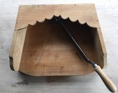 Tobacco HERB Chopper Built in SOLID Wooden Enclosed Board BEAUTIFUL Condition Chopping Cutter