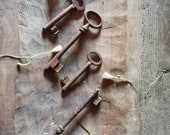Set of RUSTY OLD KEYs Instant Rustic Charm old  rustic atmosphere, arts project, prop Antique Wine Cellar Door Key Lock