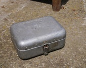 Metal FIRST AID BOX Vintage Hungarian Medical First Aid Aluminum Tin Box, Military Collectible, Army Medicine Box, Metal, Old and Nostal