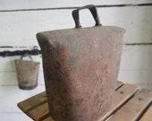 MASSIVE RUSTIC cow or Door BELL Antique Hand Forged Bell Primitive Cow Bell Iron Forged Bell Hand Made Farm Decor Farmhouse Rustic Metal