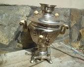 FULL SAMOVAR Soviet vintage Large Samovar Pot Russian water heater Tea kettle ussr retro teapot soviet coffee pot Working Traditional