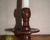 Candlestick HOLDER, Drip Tray Pottery, Ceramic Rustic Lighting, Hand potted, Elegant and eye catching Romantic Candle holder
