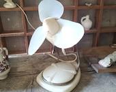 ROCKET Fan 1940s RETRO Old Solid Desk wall Industrial Style Fan Air Blower Studio Warehouse Kitchen RARE Cooling Fan, Blower, Retro, White