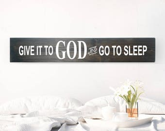 Inspirational Quote Pillow Give It To God Quotes On Pillow Etsy