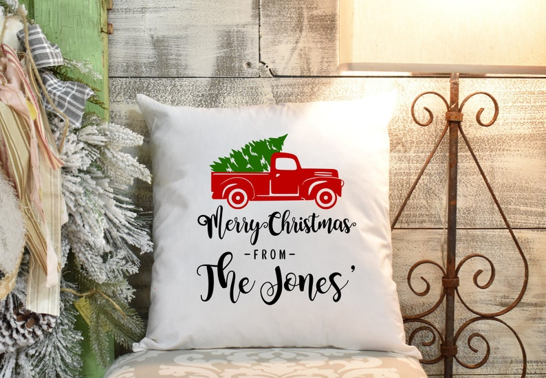Christmas Pillows.Personalized Christmas Pillows Merry Christmas Pillow Covers Christmas Personalized Farmhouse Pillow Covers Personalized Pillow Covers